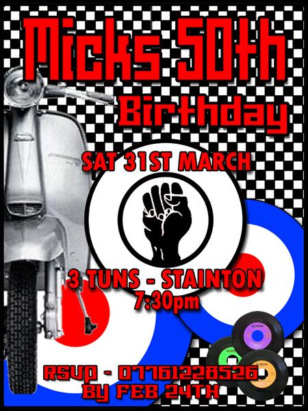 Mick's 50th Birthday invite