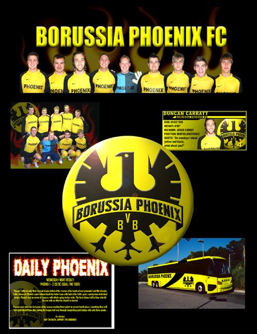 Borussia Phoenix FC web graphics